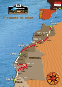 Africa Eco Race 2016 - Parcours complet